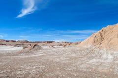Долина луны Atacama, Чили Стоковые Фотографии RF
