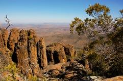 Долина Desolation в национальном парке Camdeboo стоковое изображение rf