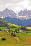 Долина Funes, Больцано Италия Стоковые Изображения