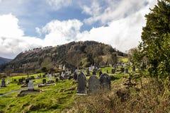 Долина Glendalough около гор Wicklow Стоковая Фотография