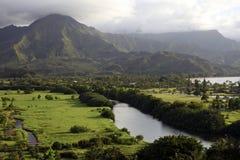 Долина Hanalei, Кауаи, Гавайи Стоковое Изображение RF