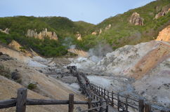 Долина Jigokudani Hokaido Япония ада Стоковые Изображения