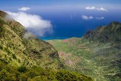 Долина Kalalau Стоковая Фотография
