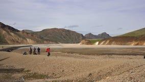 Долина Landmannalaugar стоковое фото rf