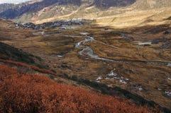 Долина Nathang, Сикким стоковое изображение