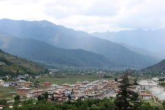 Долина Paro в Бутане Стоковые Изображения RF