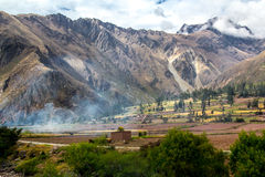 Долина Peruvian священная: Езда поезда к Machu Picchu Стоковые Изображения RF