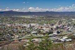 Долина Roanoke от горы мельницы, Вирджинии, США Стоковая Фотография