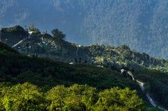 Долина Silerygaon, Сикким стоковые изображения rf