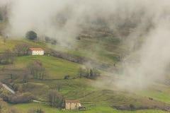 Долина Soba, кантабрия, Испания Стоковое фото RF