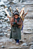 Долина Tsum, Непал Стоковое Изображение RF