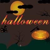 Долины темноты хеллоуина Иллюстрация вектора