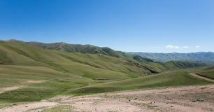 Долины ` s Kochkor зеленые в Кыргызстане Стоковое Изображение