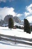Доломиты в зиме Стоковое Фото
