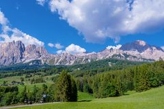 Доломиты Ampezzo Cortina Стоковое фото RF