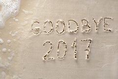 До свидания концепция 2017 Новых Годов Стоковые Изображения