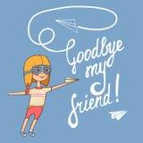До свидания мой друг иллюстрация вектора