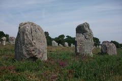 Дольмены и менгиры Carnac (Бретаня, Франции) Стоковое Фото