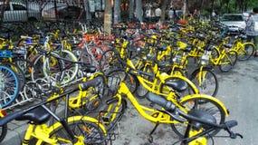 Доля велосипеда в bejing фарфора 4 стоковое изображение
