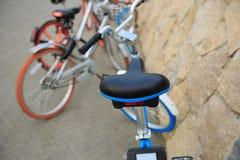 Доля велосипеда на взморье Стоковая Фотография