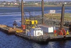 Драгировать гавань в Новой Шотландии Стоковые Изображения RF