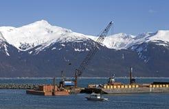 Драгируя снаряжение в юговосточной Аляске Стоковые Фотографии RF