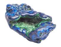 Драгоценная камень азурита на белой предпосылке Стоковое Изображение RF