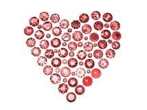 Драгоценная камень формы сердца Стоковое Изображение RF