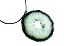 Драгоценная камень o изолированный агатом на белой предпосылке Стоковые Изображения RF