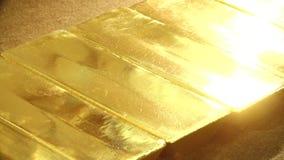 Драгоценное множество миллиарда riches золота сток-видео