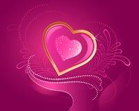 драгоценное сердца розовое иллюстрация вектора