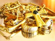 драгоценности золота Стоковые Изображения