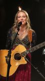 Драгоценность выполнила некоторые из ее больших ударов для iHeartRadio живет в Нью-Йорке Стоковые Изображения
