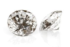 Драгоценность диаманта изображения на белой предпосылке Красивое сверкная изображение сияющей округлой формы изумрудное 3D предст бесплатная иллюстрация
