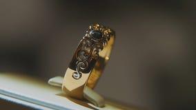 Драгоценные кольца с бриллиантом Точный роскошный дисплей окна украшений диаманта с педантом кольца Изолированное кольцо золота с Стоковые Изображения