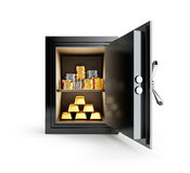 Драгоценные металлы, который хранят в безопасной коробке бесплатная иллюстрация