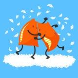 Драка подушки бесплатная иллюстрация
