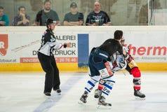 Драка хоккея стоковое изображение