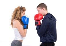 Драка Kickboxing стоковые изображения rf