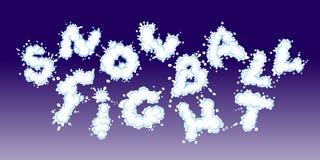 Драка Snowball Стоковые Фото