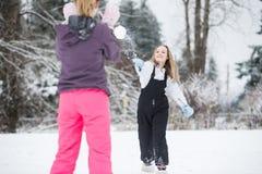 Драка Snowball стоковое фото rf