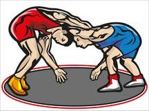 Драка, wrestling иллюстрация вектора