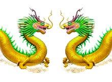 драконы золотистые 2 Стоковые Фотографии RF