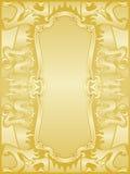 драконы обрамляют золотистый комплект Стоковое фото RF
