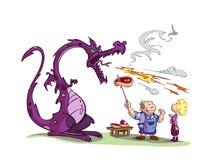 дракон барбекю Стоковое фото RF