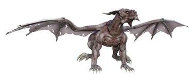 дракон вампира фантазии перевода 3D на белизне Стоковые Изображения