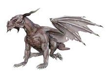 дракон вампира фантазии перевода 3D на белизне Стоковые Фотографии RF