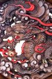 Дракон высекаенный от древесины Стоковое Фото