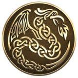 Дракон в кельтском стиле Стоковые Фотографии RF