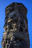 Дракон в столбце Стоковые Фото